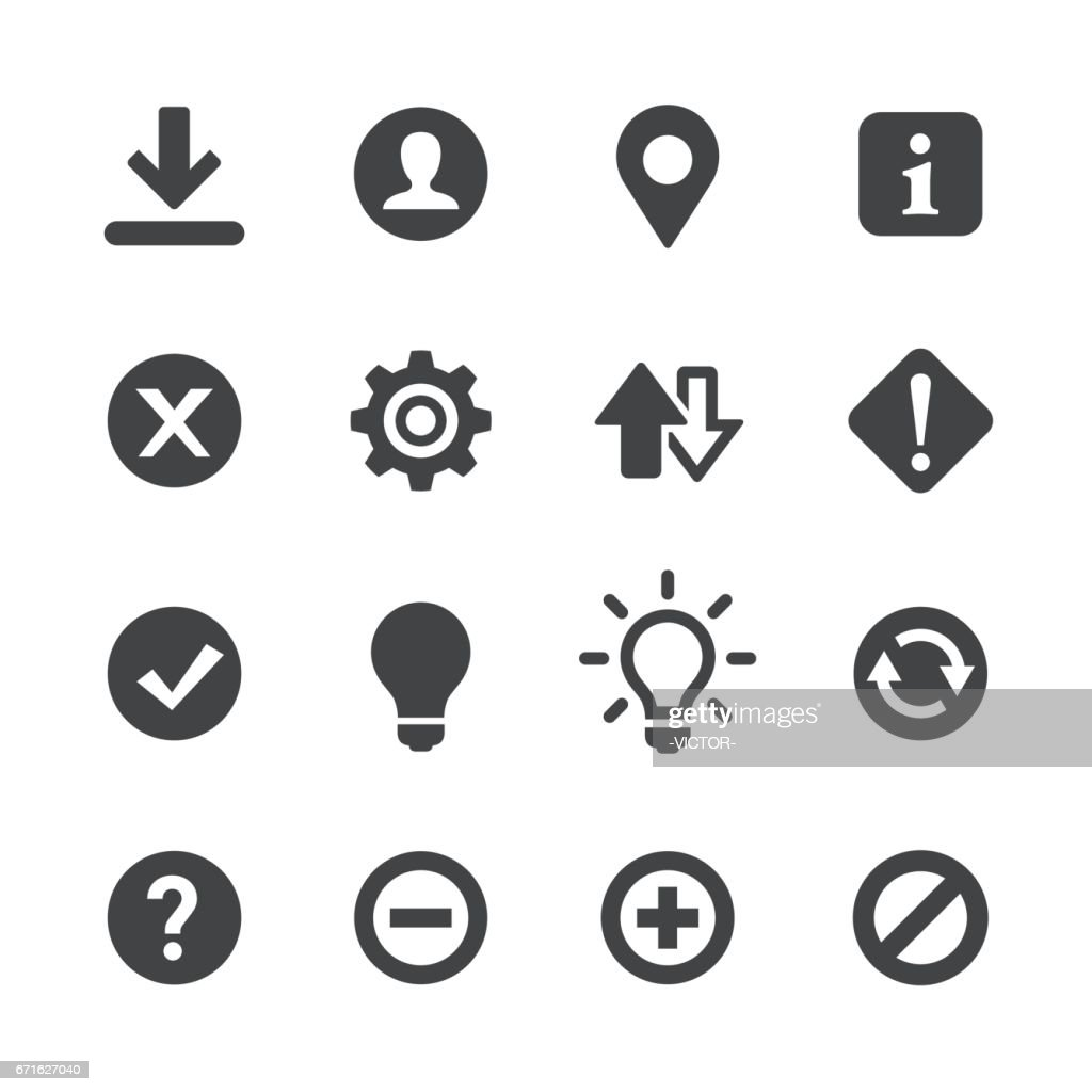 Web Buttons Icons - Acme Series