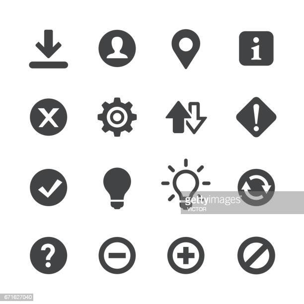 Web-Schaltflächen-Symbole - Acme-Serie