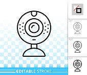 Web Camera simple black line vector icon