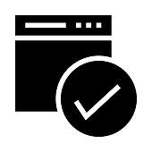 web check Glyphs Vector Icon