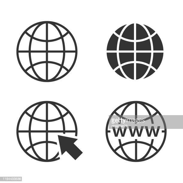 ウェブコンセプト地球儀アイコンセットとウェブサイトのアイコン。 - ワールド・ワイド・ウェブ点のイラスト素材/クリップアート素材/マンガ素材/アイコン素材