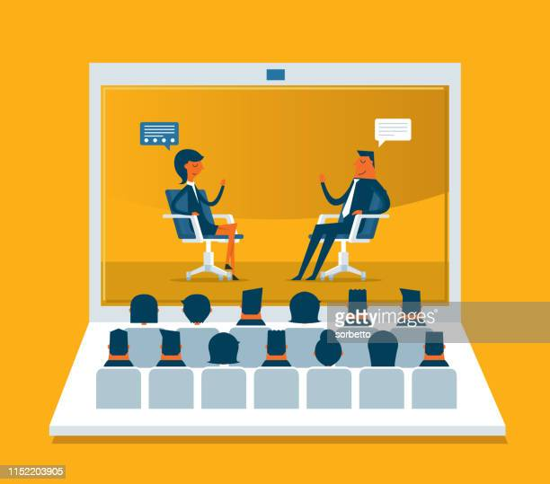 web conference - web conference stock illustrations