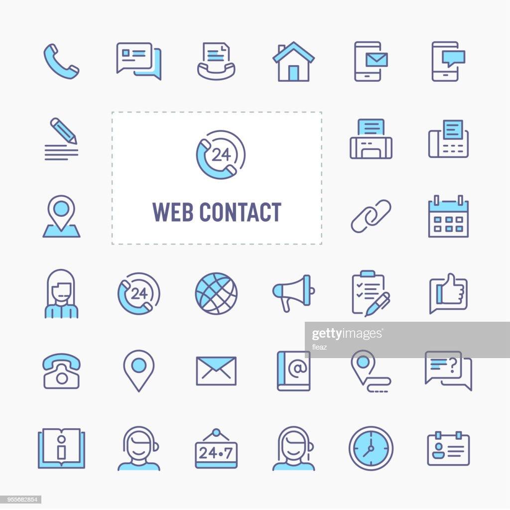 Web Contact Minimal Icon Set