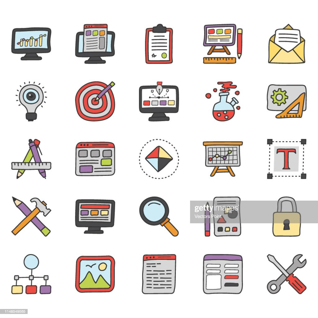 Web Design and Design Tools Icons