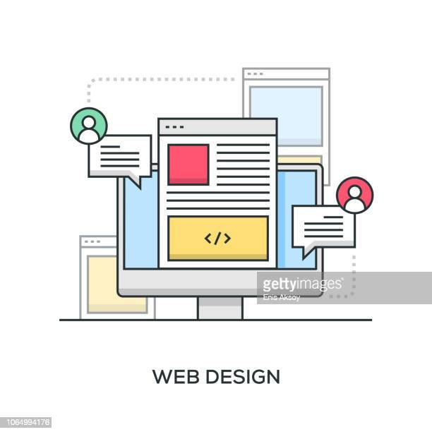 web design banner - web page stock illustrations