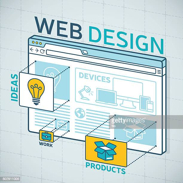 web デザインのブラウザ - ホームページ点のイラスト素材/クリップアート素材/マンガ素材/アイコン素材