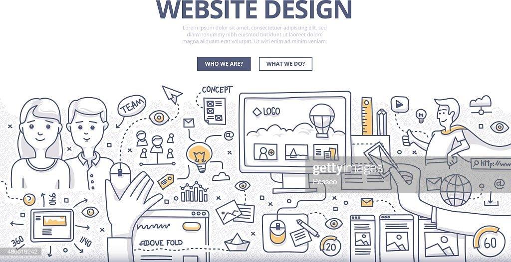 Web Design Doodle Concept