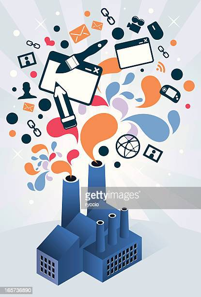 web design factory - emitting stock illustrations, clip art, cartoons, & icons