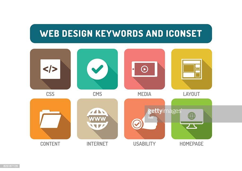 Web Design Flat Icon Set