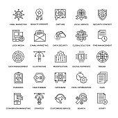 Web Design Flat Line Icons 2