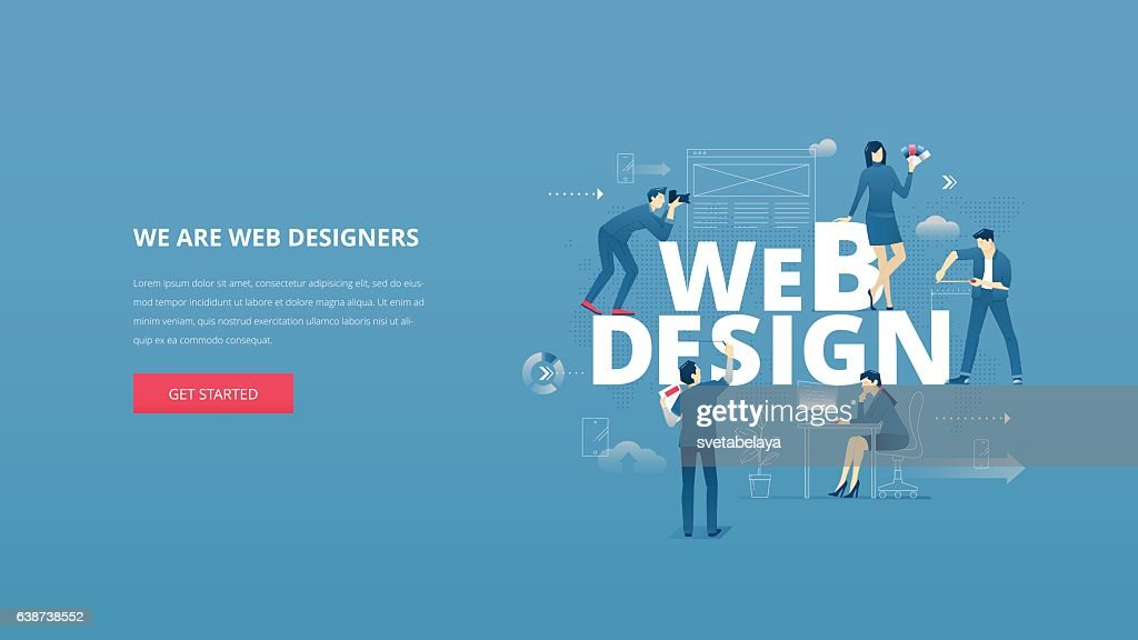Web design hero banner