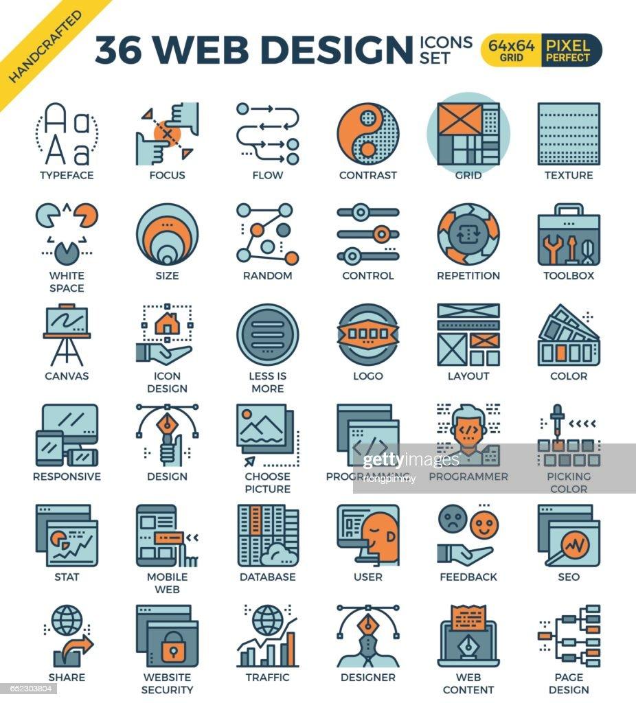 Web design icon set
