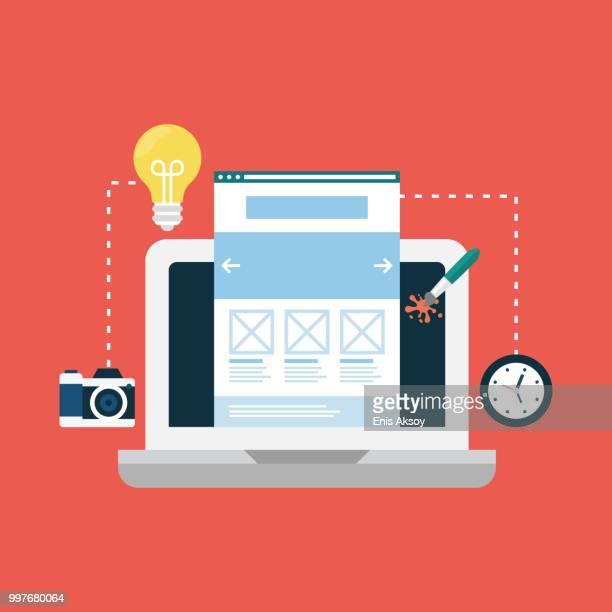 web デザインアイコン - ホームページ点のイラスト素材/クリップアート素材/マンガ素材/アイコン素材