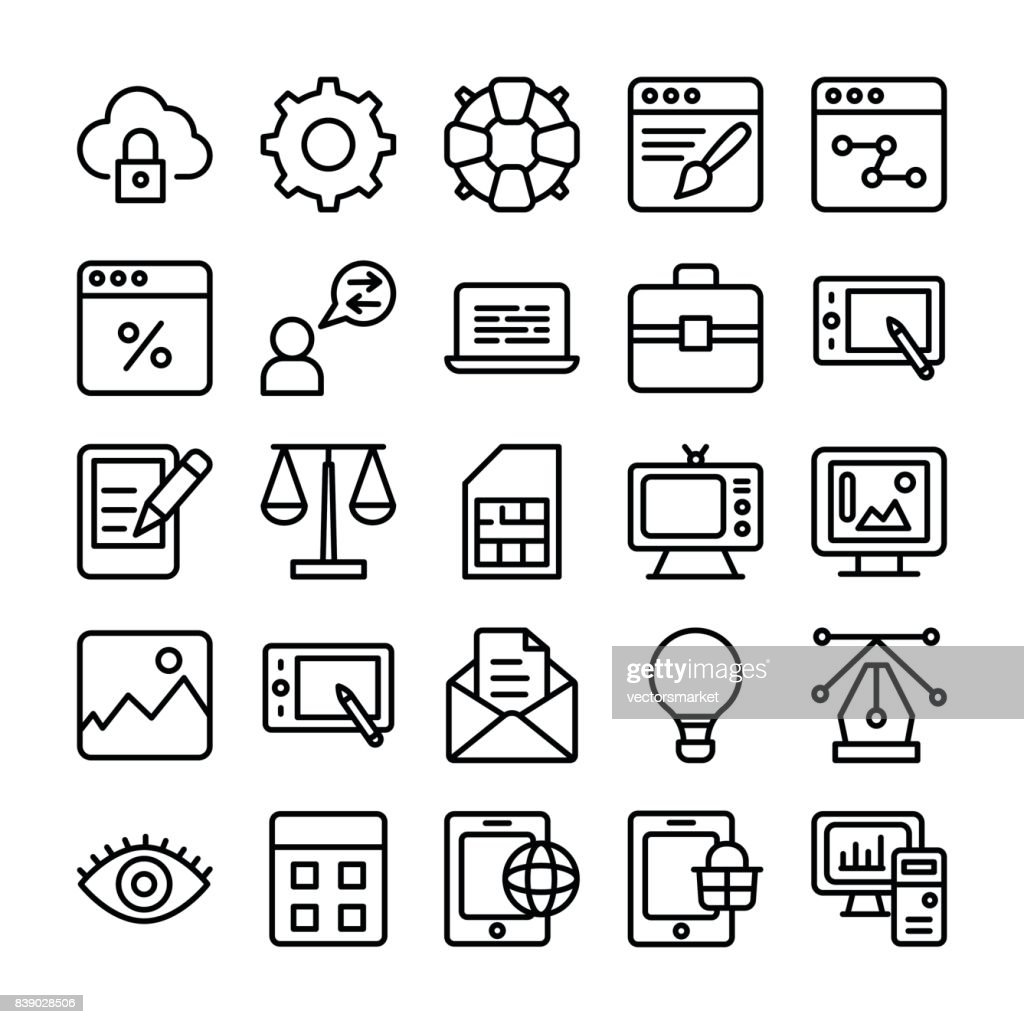 Web Design Line Vector Icons 1