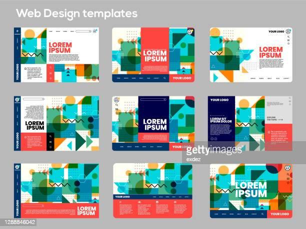 ウェブデザインセット - ホームページ点のイラスト素材/クリップアート素材/マンガ素材/アイコン素材