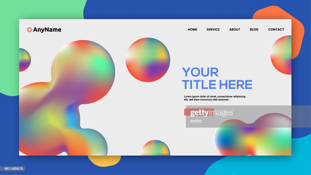 web デザインテンプレート ベクトルアート getty images