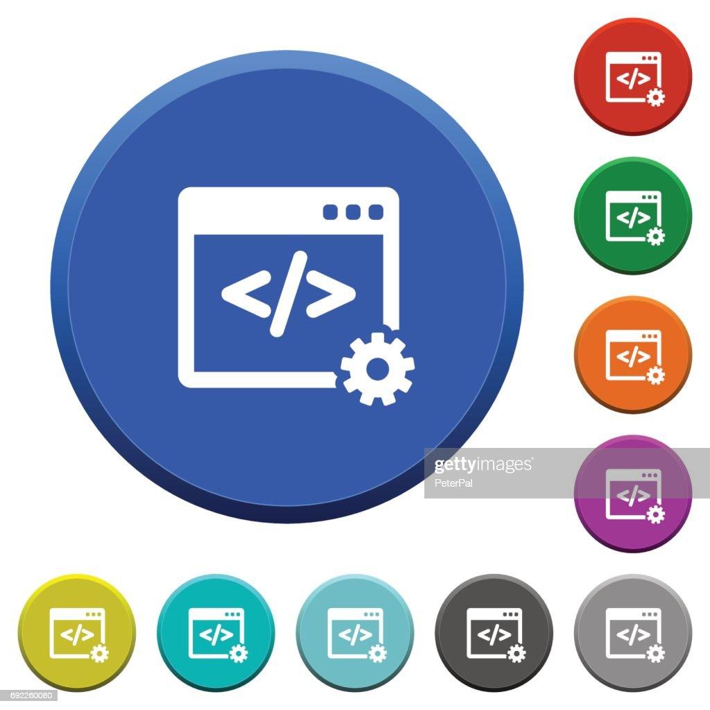 Web development beveled buttons