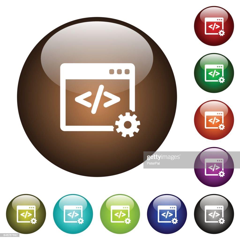 Web development color glass buttons
