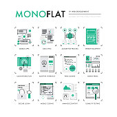 Web Development Monoflat Icons