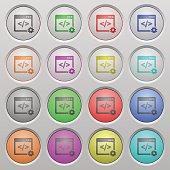 Web development plastic sunk buttons