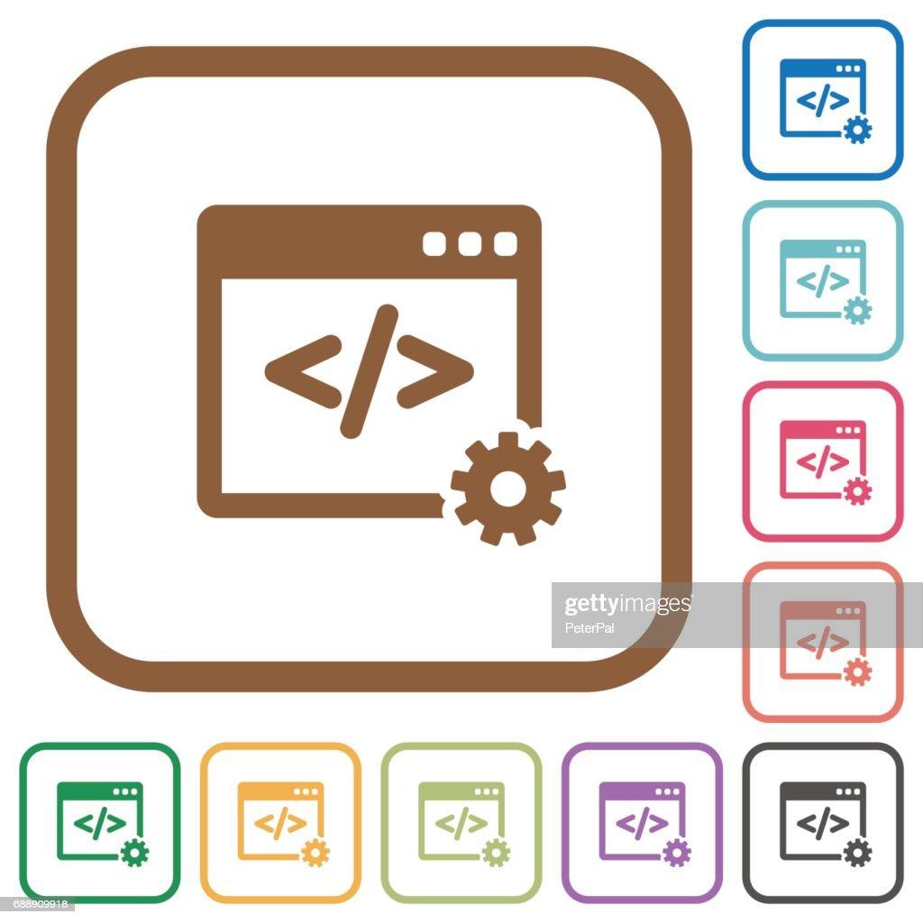 Web development simple icons