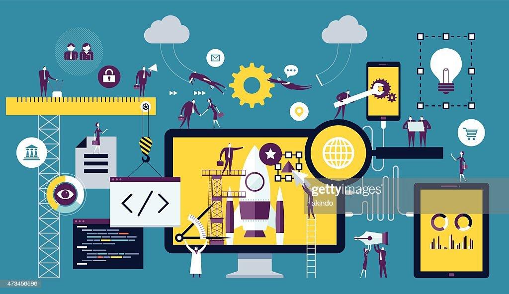 Web-Entwicklung : Stock-Illustration