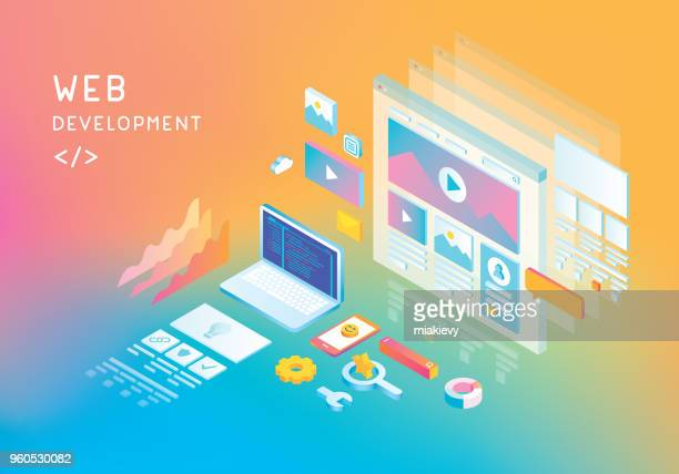 web development - work tool stock illustrations
