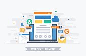 Web development vector illustration