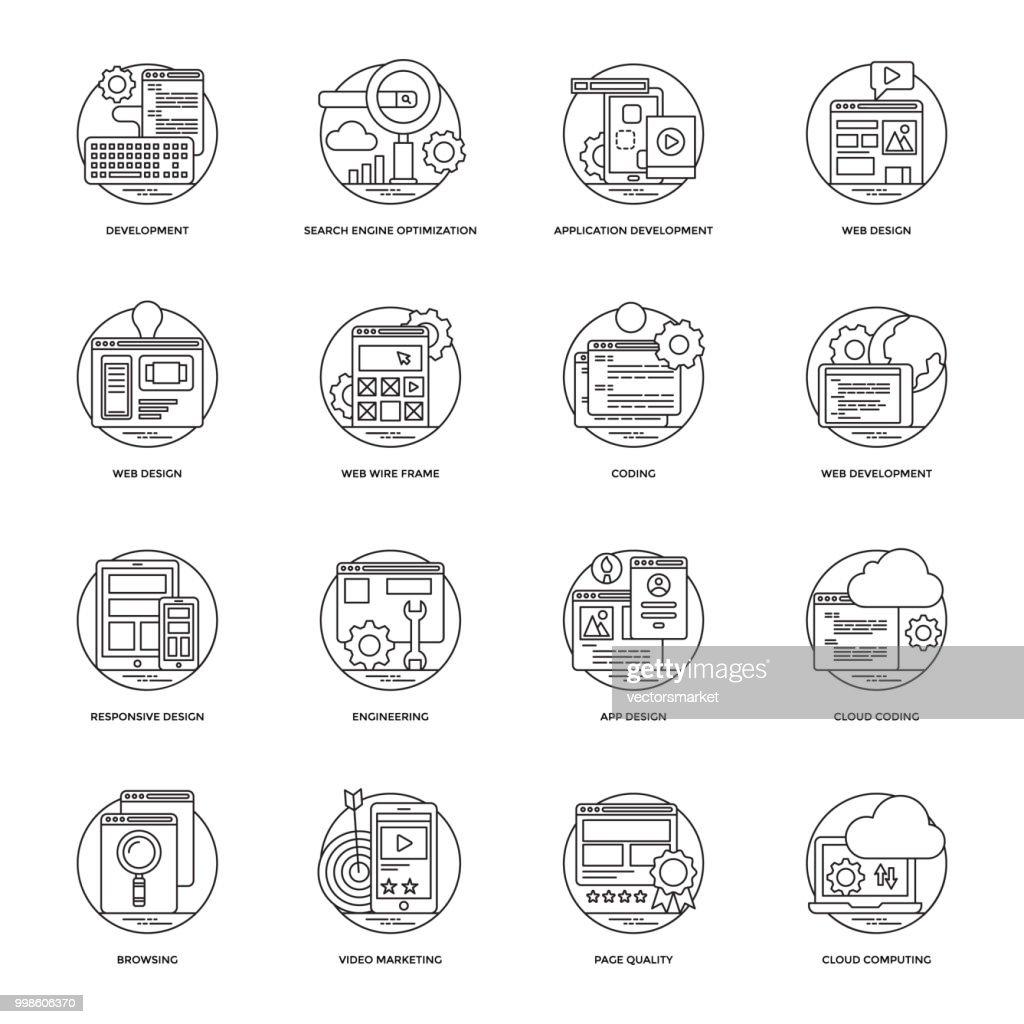 Web Development Vector Line Icons 1