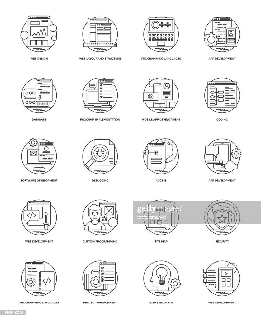 Web Development Vector Line Icons 6
