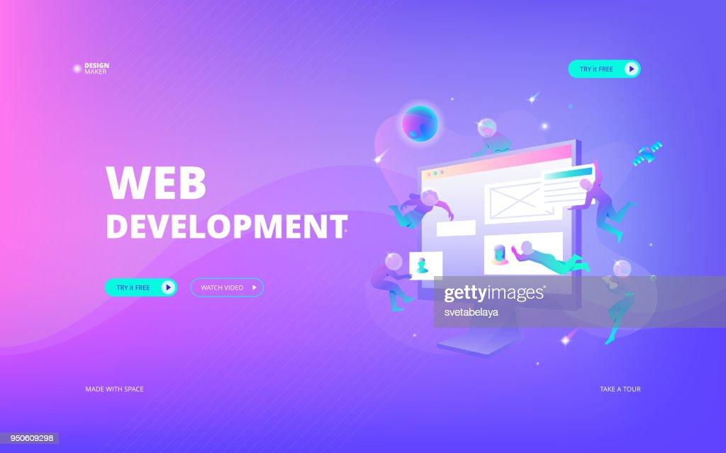 Web development web banner