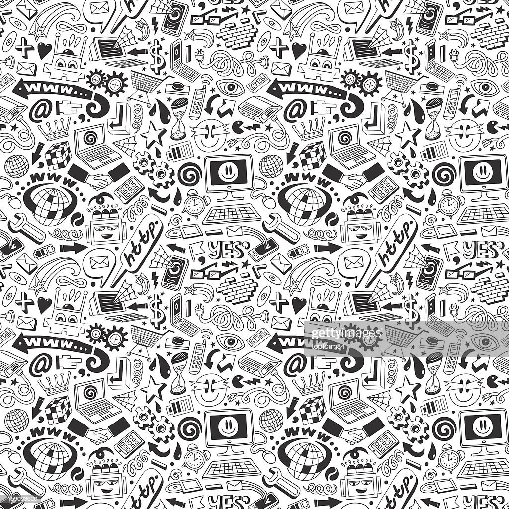 web doodles - seamless pattern