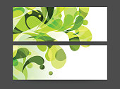 Web header or banner set.