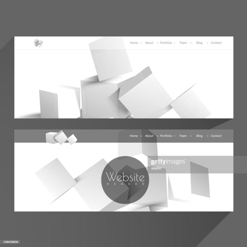 Web header or banner set.