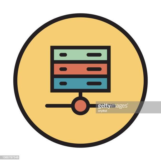 ilustraciones, imágenes clip art, dibujos animados e iconos de stock de web hosting icono de línea plana - patrocinador