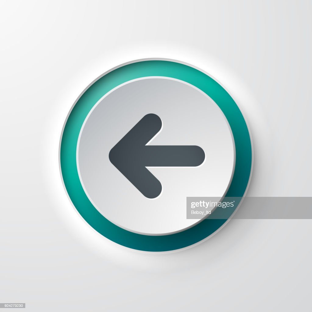 web icon push-button backward arrow