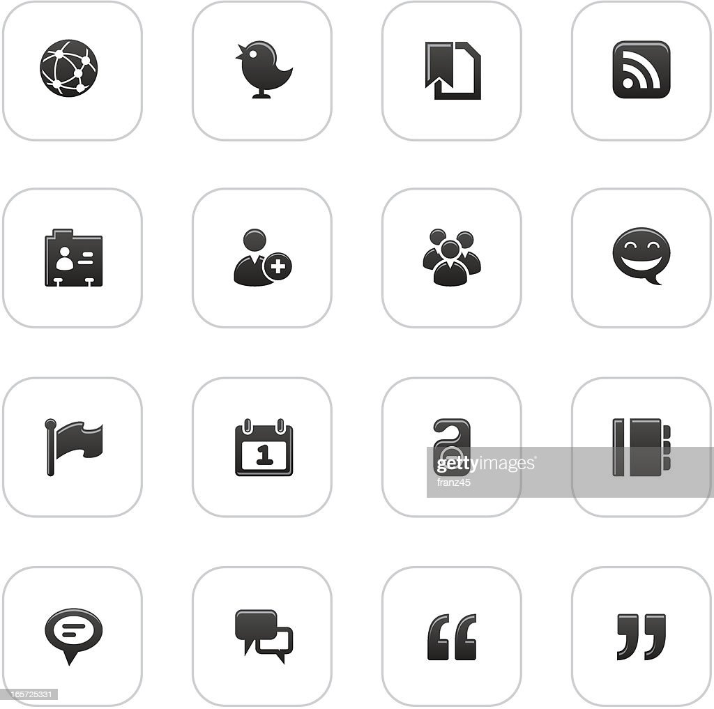 web icon set  _ Social Network