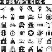 Web icon set. Location, navigation, transport, map