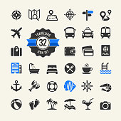 Web icon set - travel