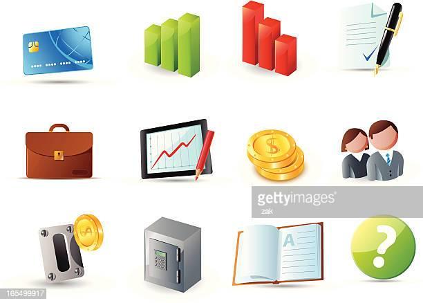 ilustrações, clipart, desenhos animados e ícones de ícones web 3 - office safety