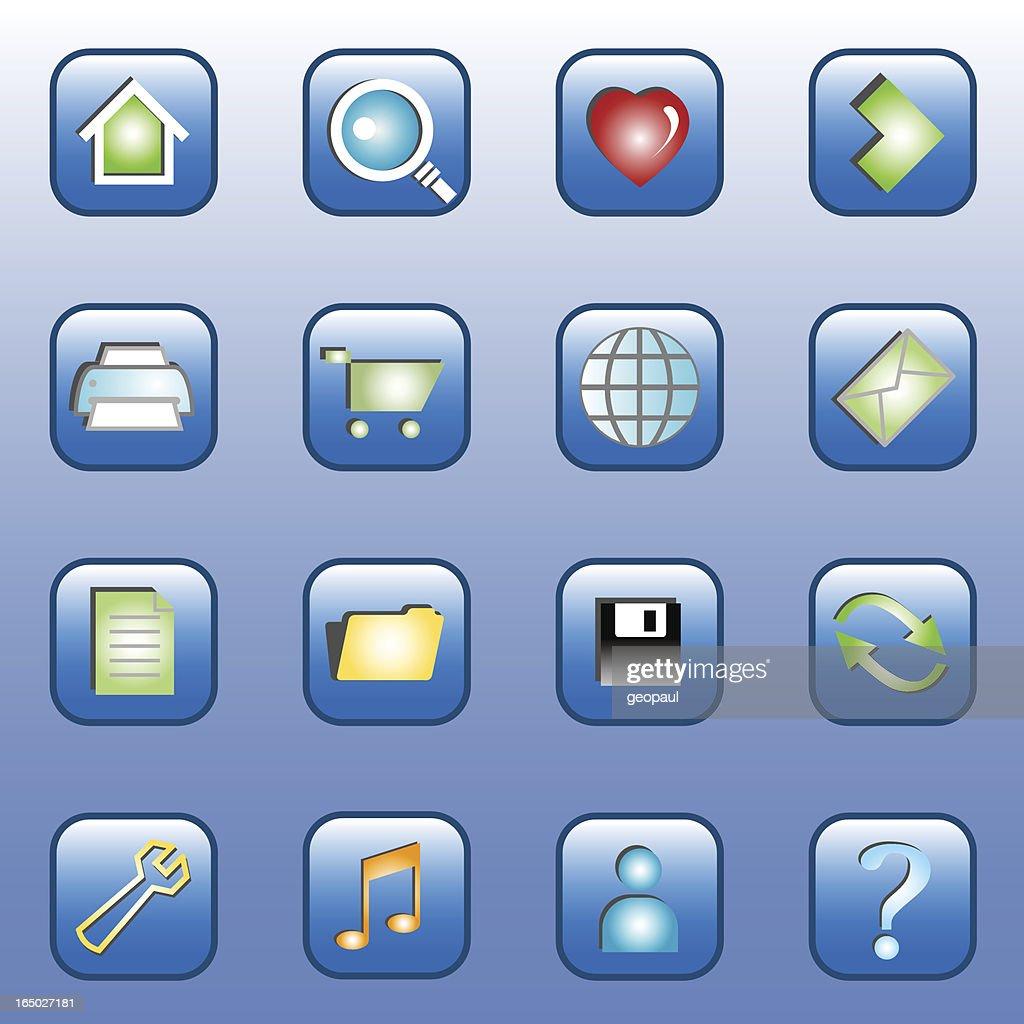 Web Icons - Blue