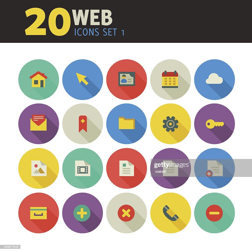 Web icons on circles