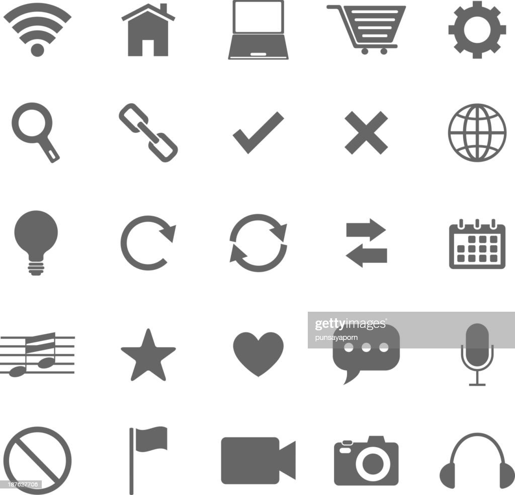 Web icons on white background