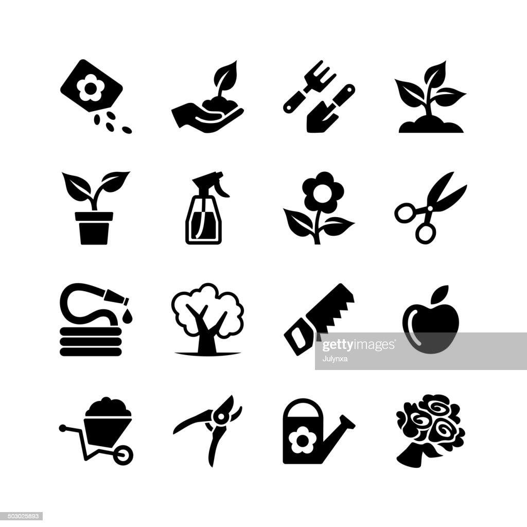 Web icons set -Garden, tools, watering