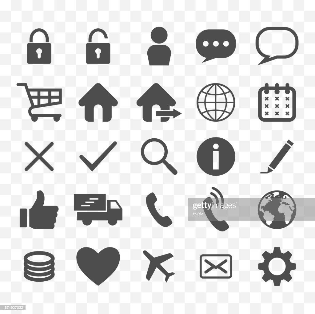 web icons set, on line shop symbols, online store icons