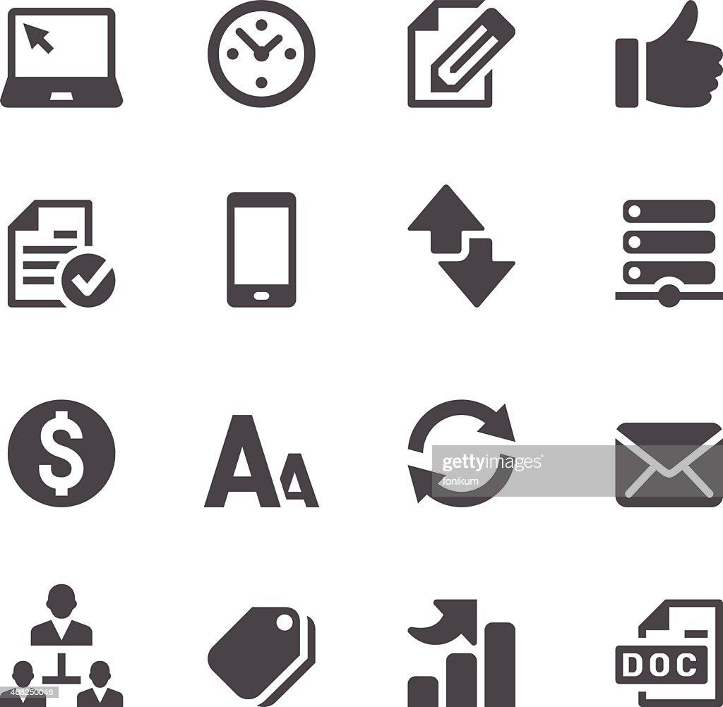 Web Icons Set : stock illustration
