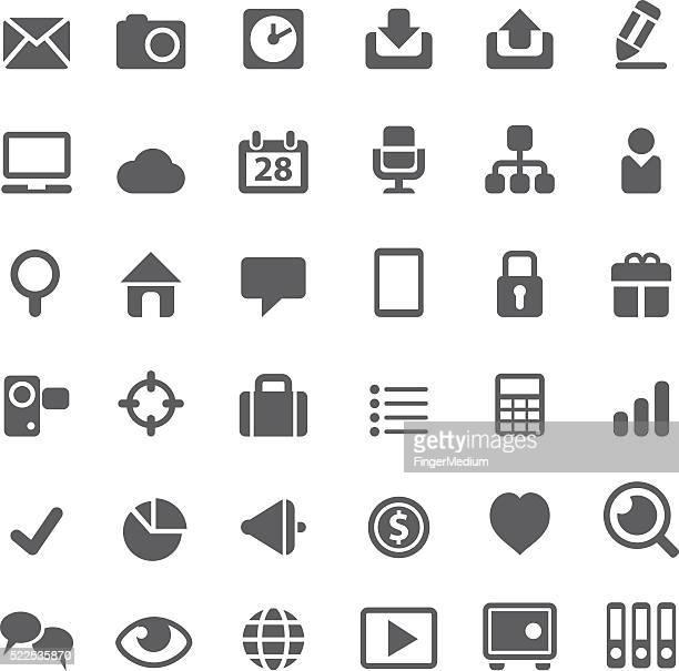 web icons - video editing stock illustrations, clip art, cartoons, & icons