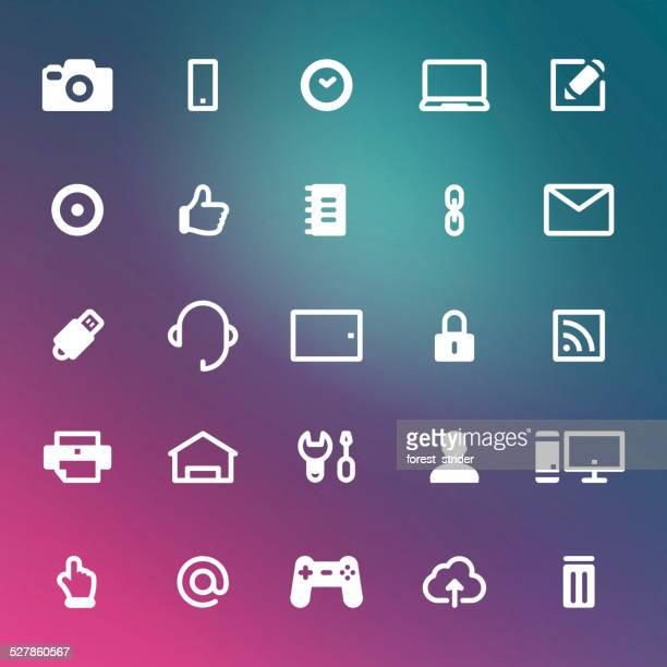 web icons - finanzen und wirtschaft stock illustrations