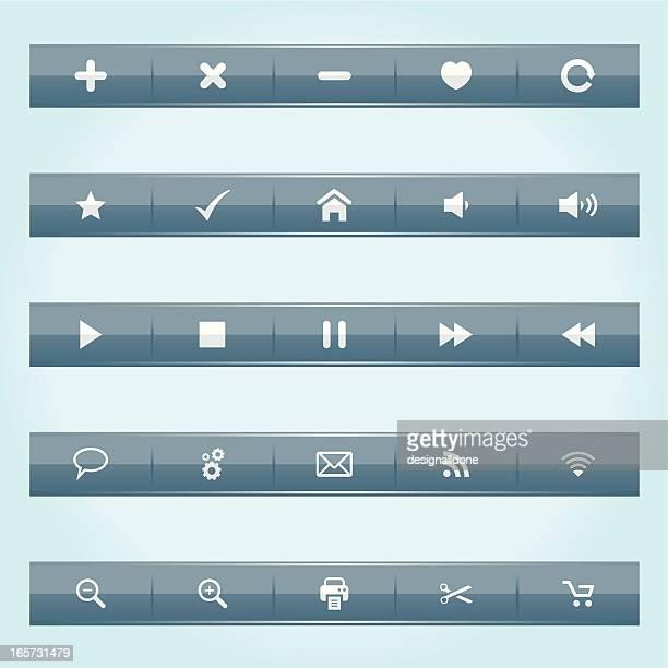 web interface bars - volume knob stock illustrations, clip art, cartoons, & icons