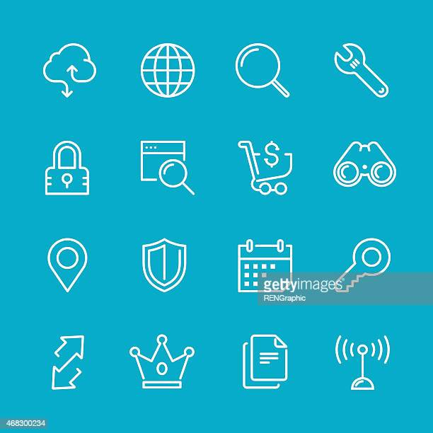 web & internet Concept   Line icon Series